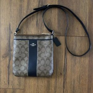 Coach Coated Canvas Leather North/South Crossbody